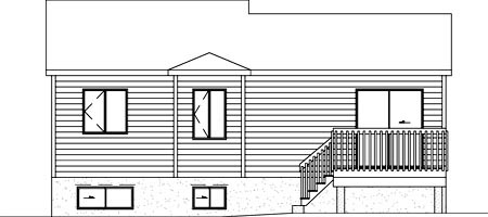 House Plan 52399 Rear Elevation