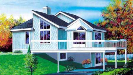 House Plan 52403 Elevation