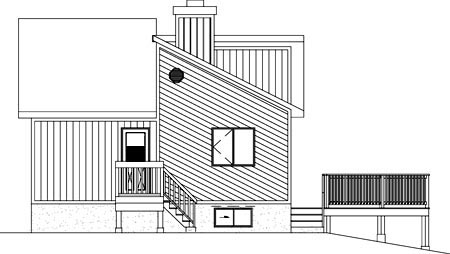 House Plan 52403 Rear Elevation
