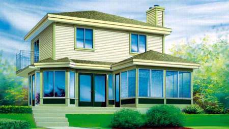 House Plan 52404 Elevation