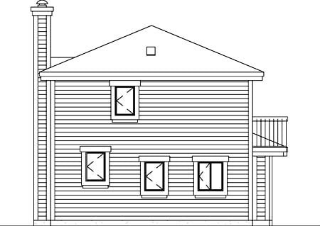 House Plan 52404 Rear Elevation