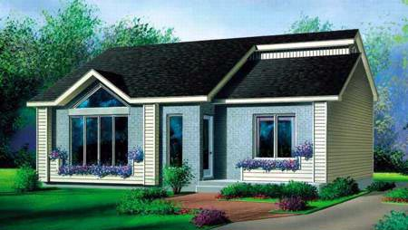 House Plan 52405 Elevation