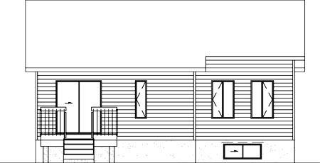 House Plan 52405 Rear Elevation