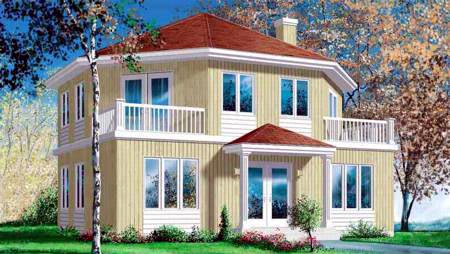 House Plan 52407 Elevation