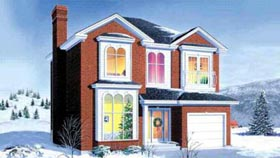 House Plan 52408 with 3 Beds, 2 Baths, 1 Car Garage Elevation