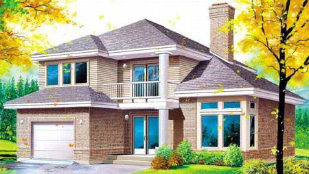 House Plan 52411 Elevation