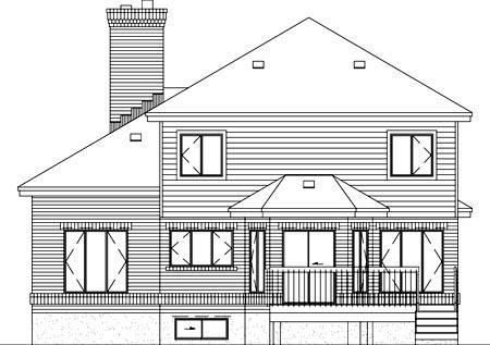 House Plan 52411 Rear Elevation