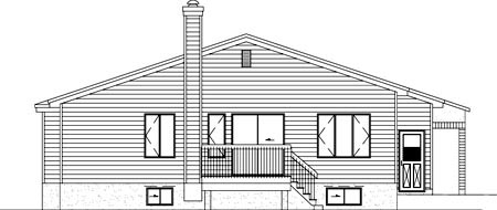 House Plan 52412 Rear Elevation