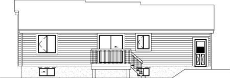 House Plan 52414 Rear Elevation
