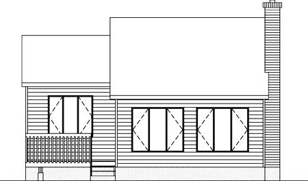 House Plan 52415 Rear Elevation
