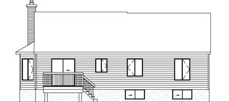 House Plan 52416 Rear Elevation
