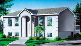 House Plan 52418 with 2 Beds, 1 Baths Elevation