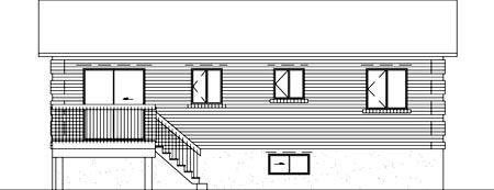 House Plan 52418 Rear Elevation