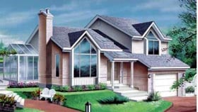 House Plan 52419 Elevation