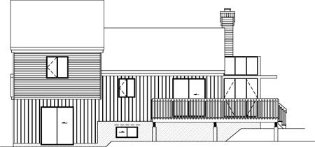 House Plan 52419 Rear Elevation