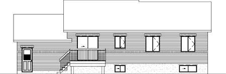 House Plan 52420 Rear Elevation
