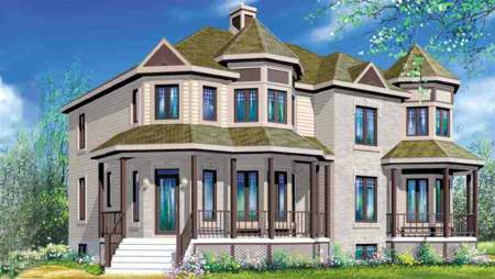 Multi-Family Plan 52421 Elevation