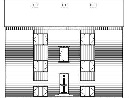 Multi-Family Plan 52422 Rear Elevation