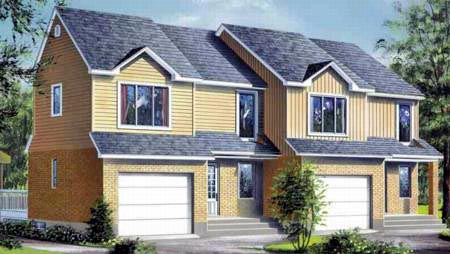 Multi-Family Plan 52423 Elevation