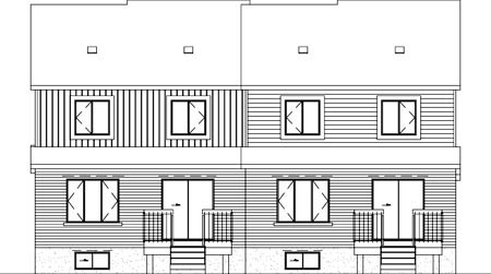 Multi-Family Plan 52423 Rear Elevation