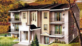 Multi-Family Plan 52426 Elevation