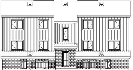 Multi-Family Plan 52426 Rear Elevation