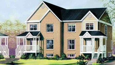 Multi-Family Plan 52429 Elevation