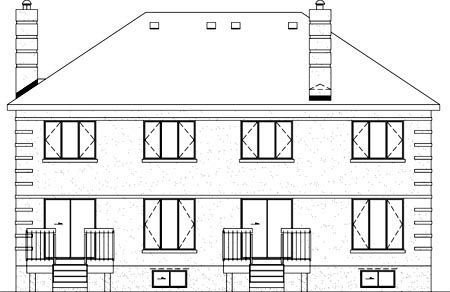 Multi-Family Plan 52431 Rear Elevation