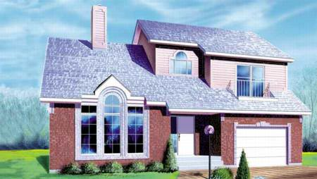 House Plan 52435 with 3 Beds, 2 Baths, 1 Car Garage Elevation