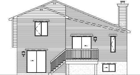 House Plan 52437 Rear Elevation
