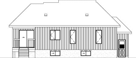House Plan 52438 Rear Elevation