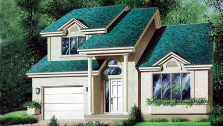 House Plan 52441 Elevation