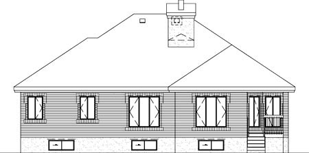 House Plan 52442 Rear Elevation