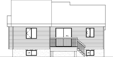 House Plan 52443 Rear Elevation