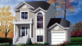House Plan 52444 Elevation