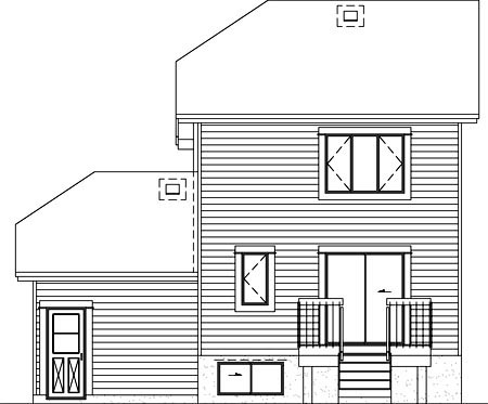 House Plan 52444 Rear Elevation