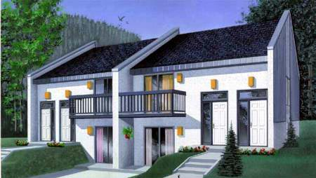 Multi-Family Plan 52446 Elevation