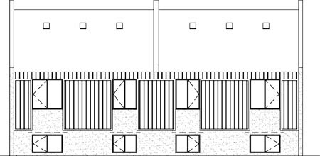 Rear Elevation of Plan 52446