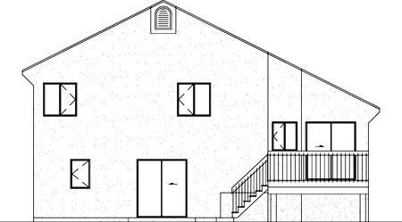 House Plan 52449 Rear Elevation