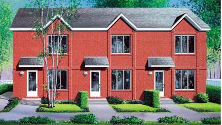 Multi-Family Plan 52456 Elevation