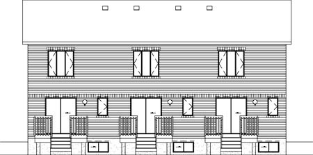 Multi-Family Plan 52456 Rear Elevation