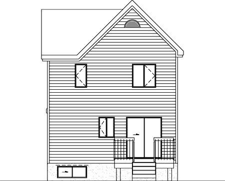 House Plan 52458 Rear Elevation
