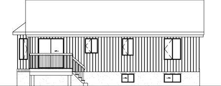 House Plan 52459 Rear Elevation