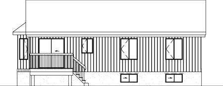 House Plan 52460 Rear Elevation