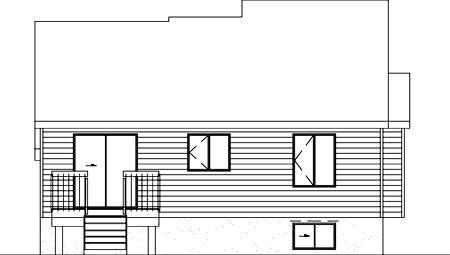 House Plan 52461 Rear Elevation