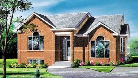 House Plan 52462 with 3 Beds, 1 Baths Elevation