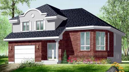 House Plan 52463 | Style Plan with 1624 Sq Ft, 3 Bedrooms, 2 Bathrooms, 1 Car Garage Elevation