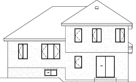 House Plan 52463 | Style Plan with 1624 Sq Ft, 3 Bedrooms, 2 Bathrooms, 1 Car Garage Rear Elevation