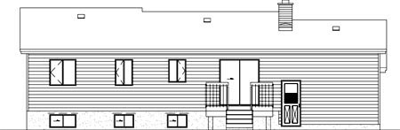 House Plan 52464 Rear Elevation