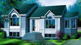 House Plan 52465 | Style Plan with 1073 Sq Ft, 2 Bedrooms, 1 Bathrooms Elevation